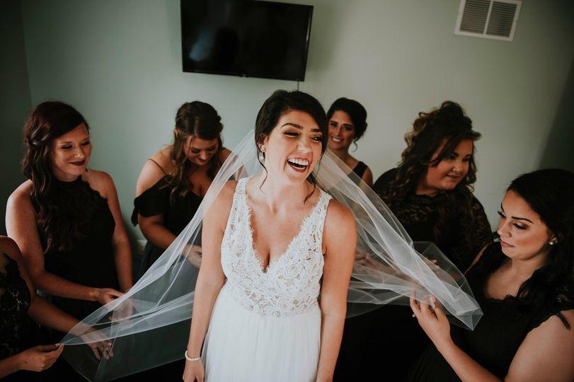 Bridesmaids at the ready