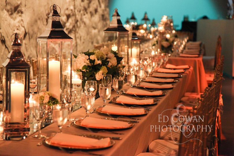 A well lighted tables