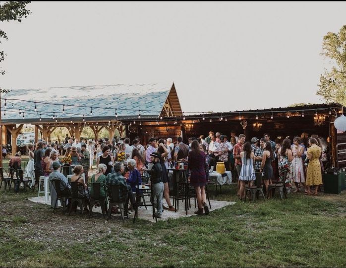 Outdoor bar/stage and dancing