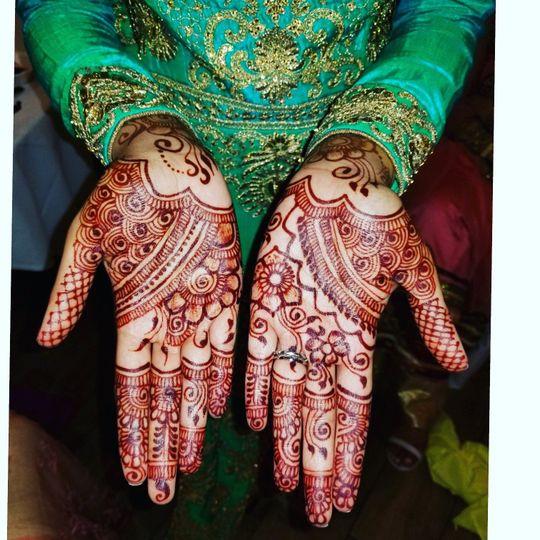 Beautiful henna patterns