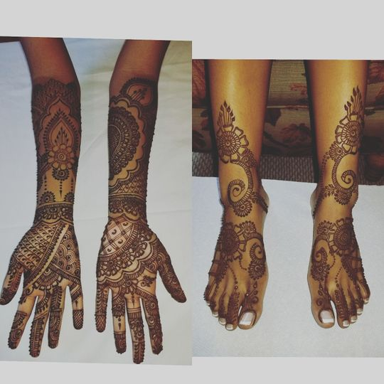 Patterns for hands and feet