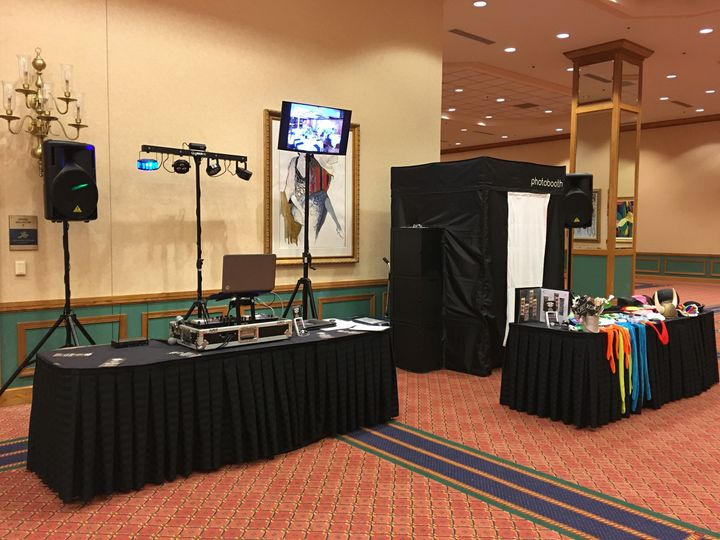 DJ and photo booth setup