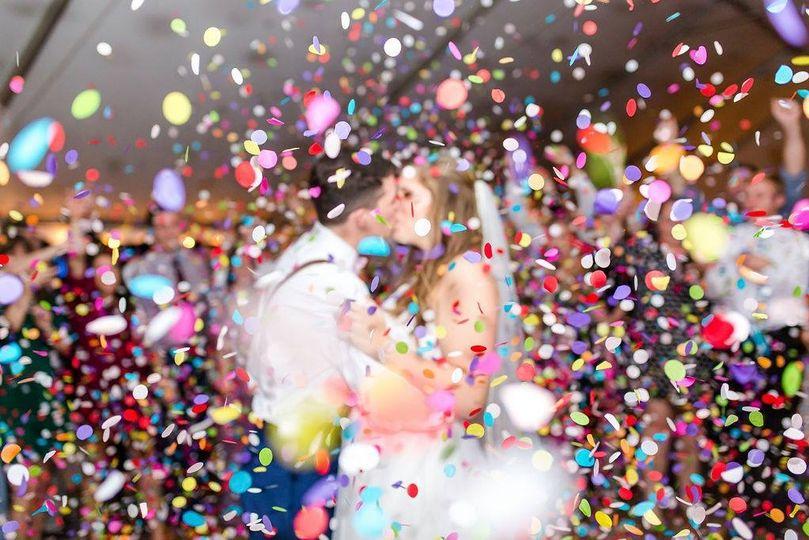 The newlyweds enjoying their dance