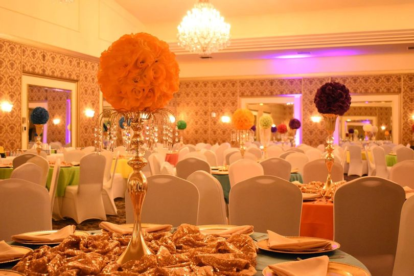 Colorful Ballroom Reception