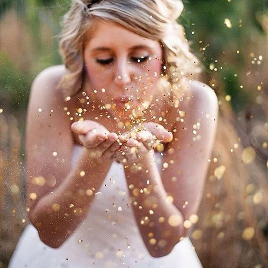 Creative shot of the bride