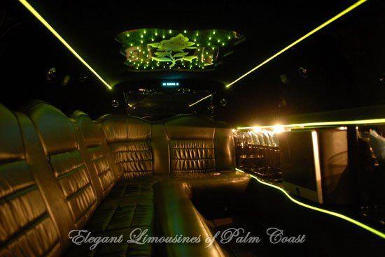 Inside 10 Passenger Jacksonville Wedding Limousine