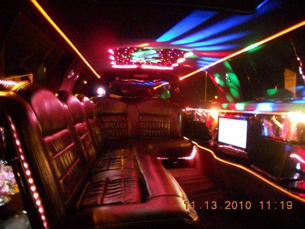 Inside 10 Passenger Jacksonville Wedding Limos
