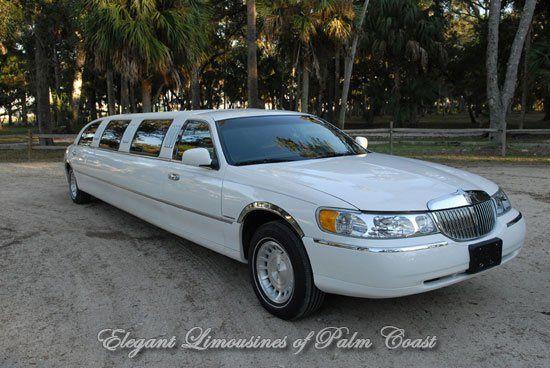 White 10 Passenger Wedding Limos in Jacksonville