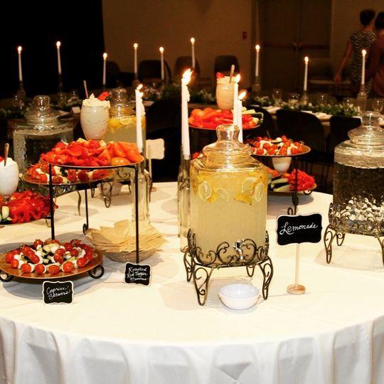 Elegant buffet setup