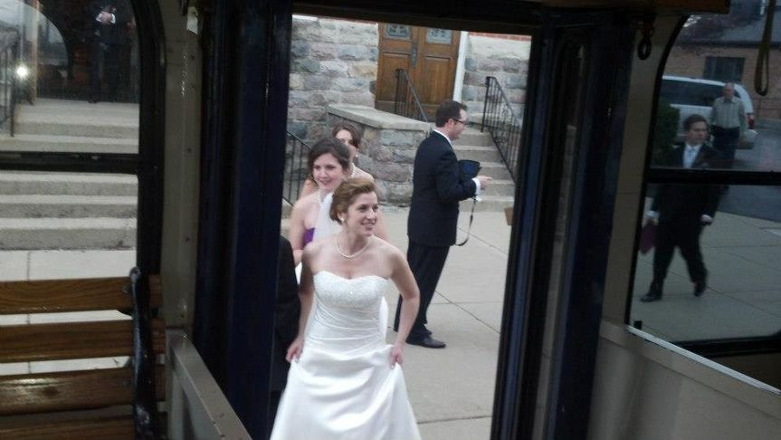 Bride about to enter