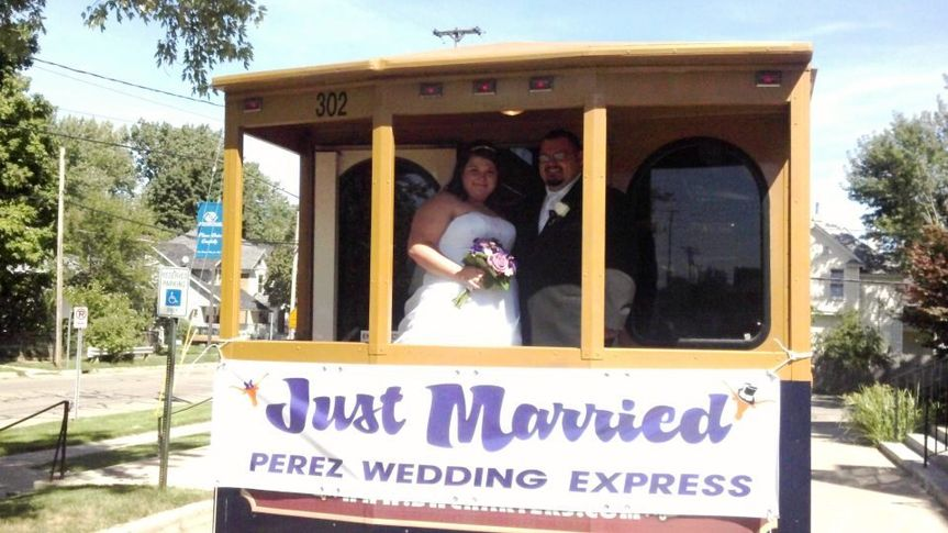 Just married tram