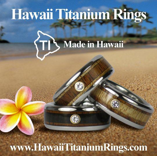 Hawaii Titanium Rings