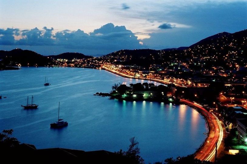 The view of Charlotte Amalie