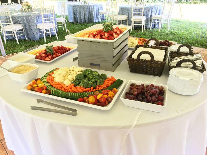 Fruit and vegetables platter