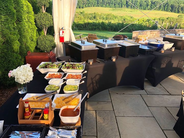 Buffet Setup with Taco Bar