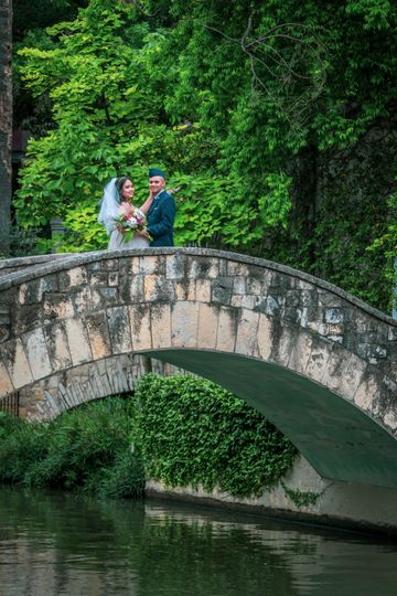 Riverwalk military wedding
