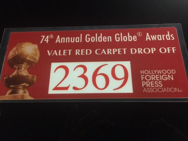 Pass to Golden Globe Awards for Celebrities and Guests for drop-offs.  A&E Worldwide Limo.