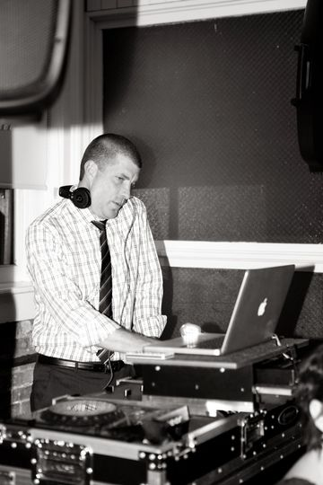 At the DJ booth