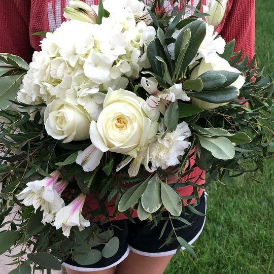 Garden style cascade bouquet