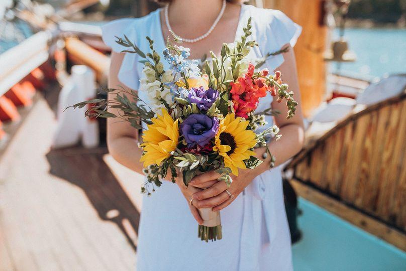 Charming bridal bouquet - photo by Katelyn Mallett