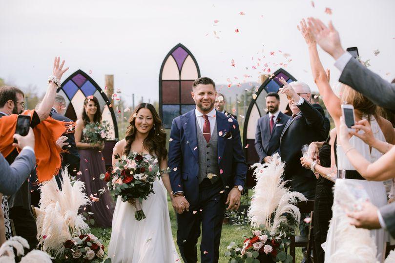 Newlyweds - photo by Fidelio Photography