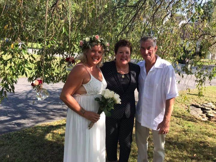 An outdoor wedding