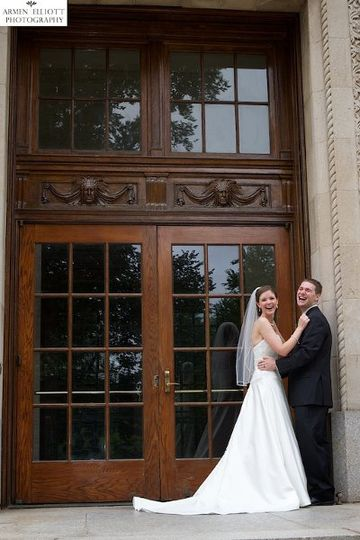 Wedding couple at Lafayette College in Easton Pennsylvania