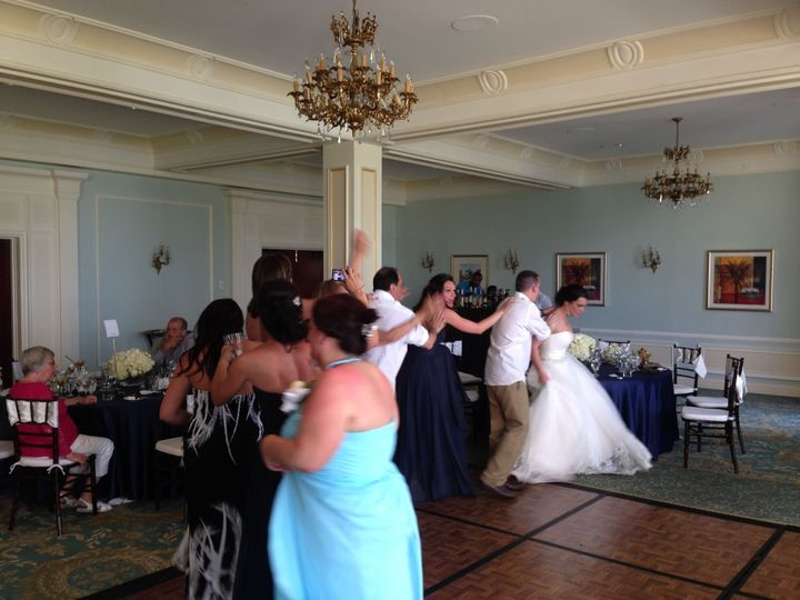 congo line at wedding