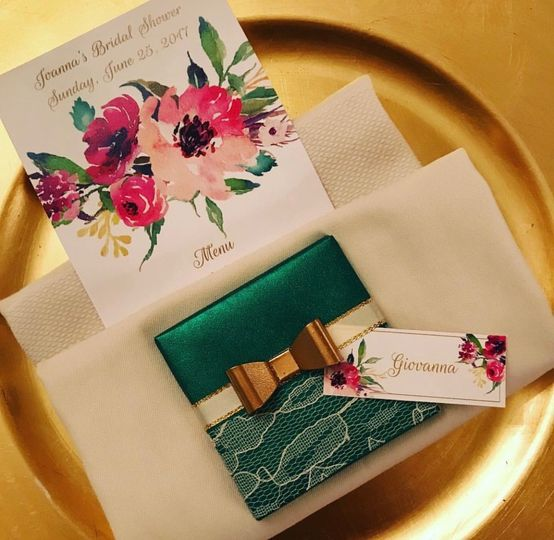 Floral Menu and Place card