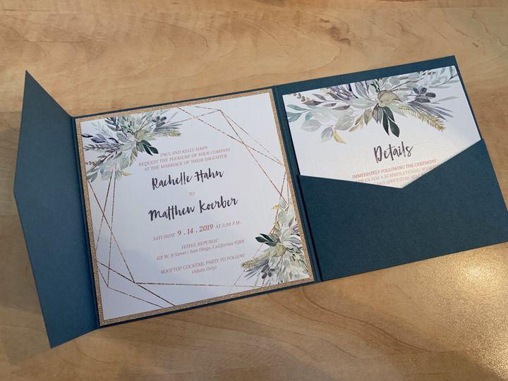 Tmx Renderedimage 51 1034117 1567392786 Poway, CA wedding invitation