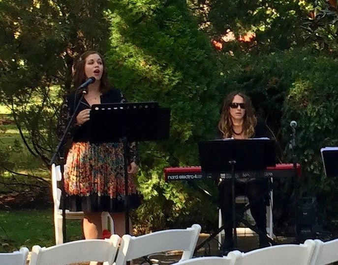 Vocalist singing