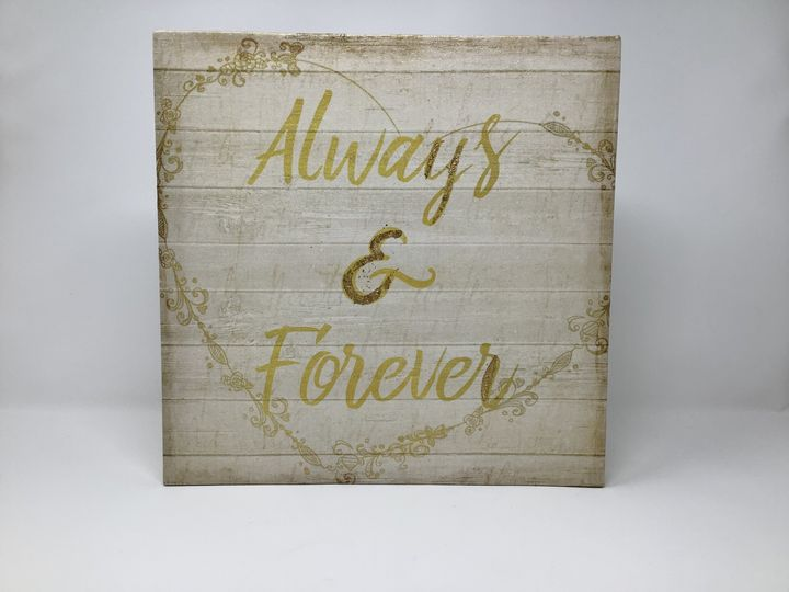 Always&Forever 12x12 Canvas