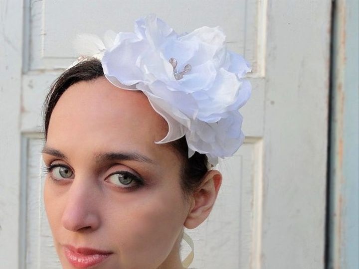 Tmx 1294200559193 Headbandwhiteflowerwrapped3etsy Spanaway wedding dress