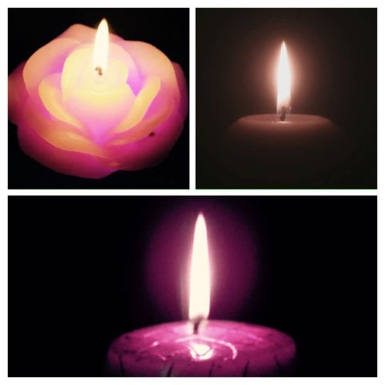 Candles of unity.