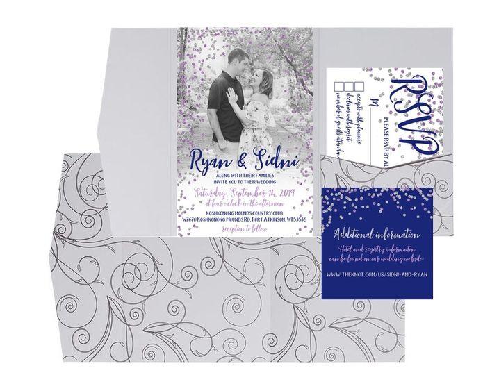 Invitation folder set