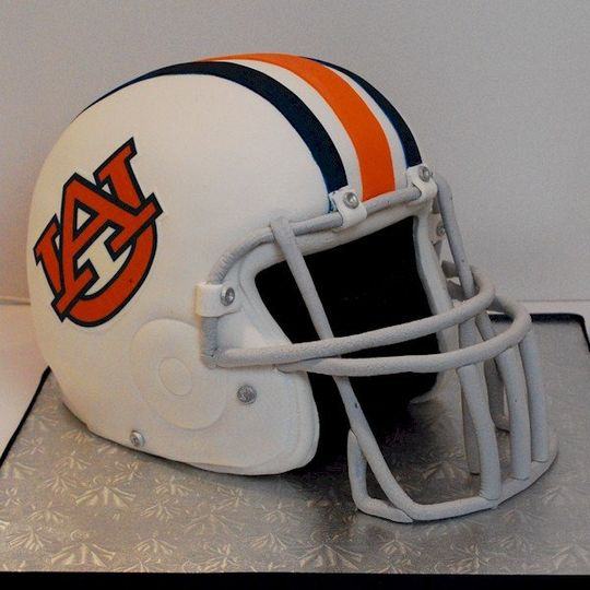 Sculpted Auburn University Football Helmet - 100% Edible