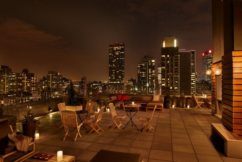 The Heights 31st-floor rooftop terrace at Arlo NoMad
