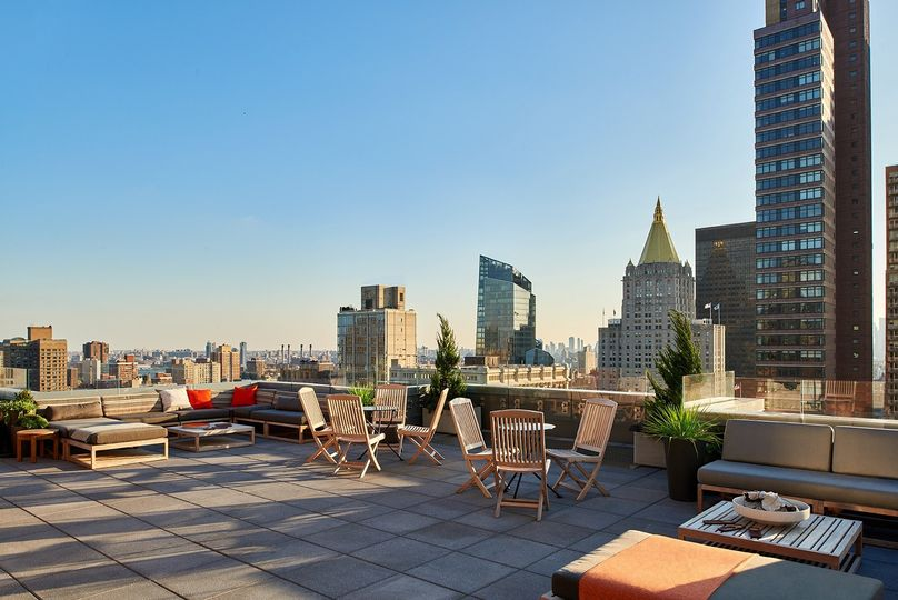 View from The Heights rooftop bar at Arlo NoMad