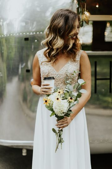A Bride and her coffee