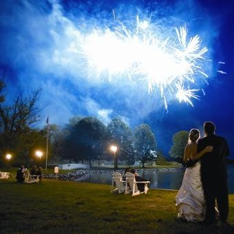 A thrilling, romantic firework show for two at The Oaks Waterfront Inn.