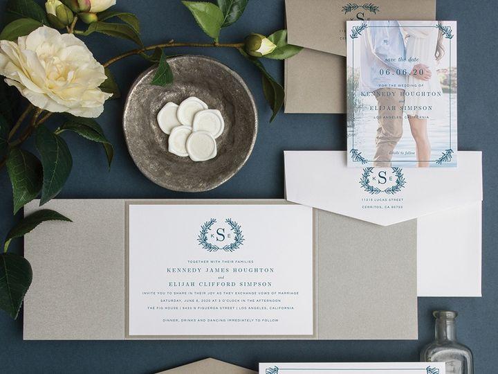 Tmx Monogram Wreath Img 0135 51 131217 158199252562424 Pittsburgh wedding invitation
