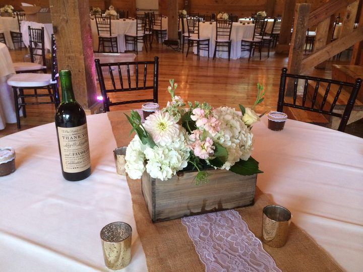 Table setup with summer flowers