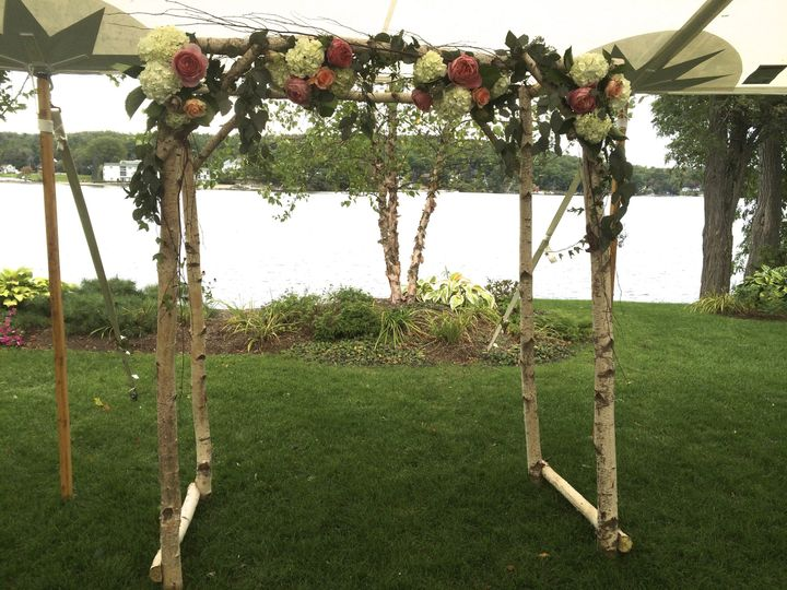 Wedding setup with flowers