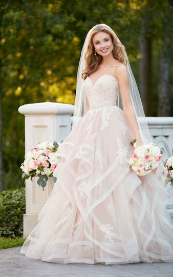 Layered wedding gown