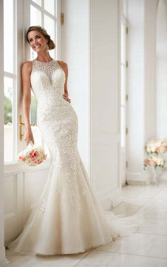 High neck wedding dress