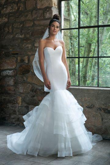 Sexy satin wedding dress