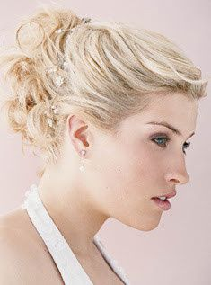 Curly hair updo