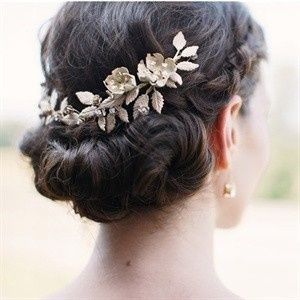 Twisted hair updo