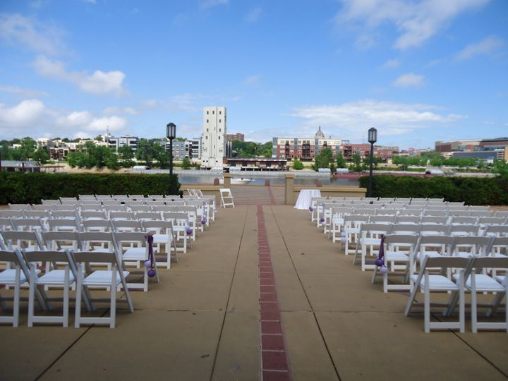 Ceremony on Riverside Patio