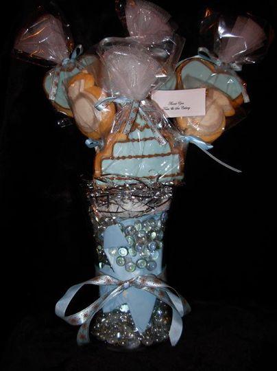 wedding cookie pops bouquet